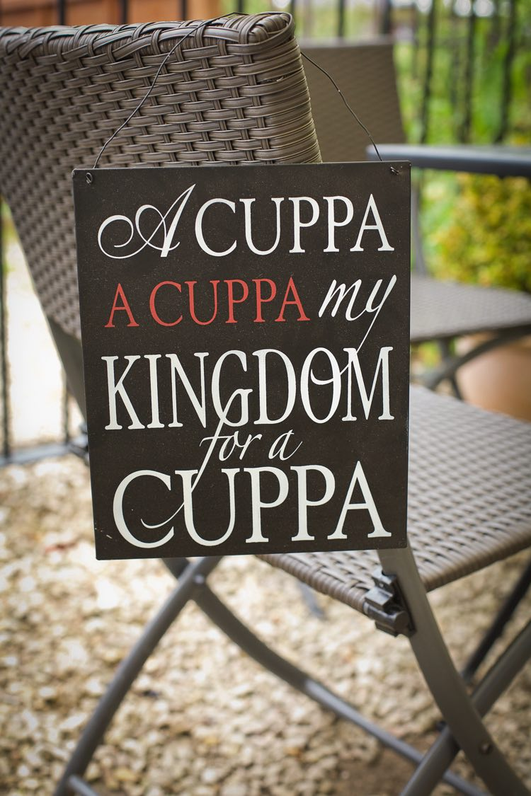 a cuppa sign